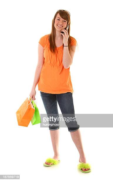 girl on phone shopping