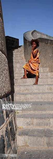 CONTENT] Girl on Stairs in Sanaa / Yemen Republic