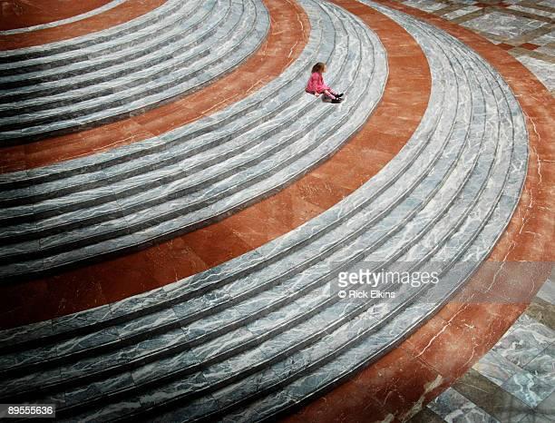 Girl on Steps