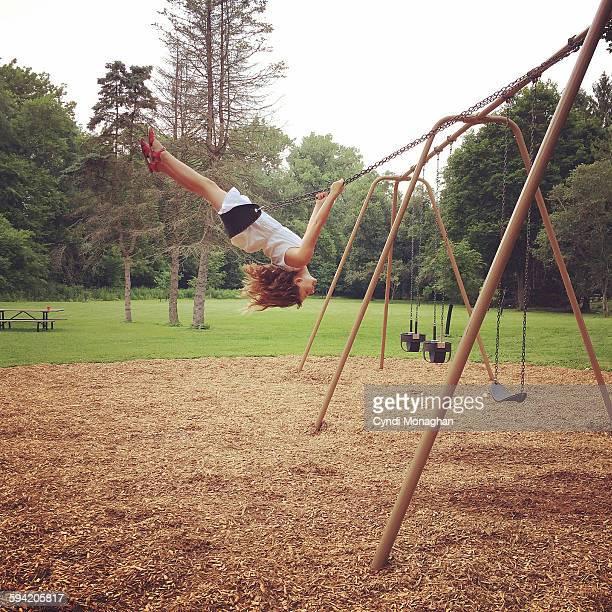 Girl on Swingset