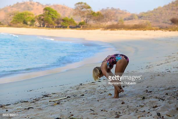 Girl on the beach. Indonesia
