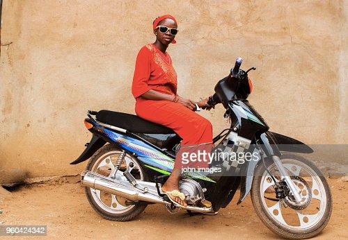 A girl on the bike