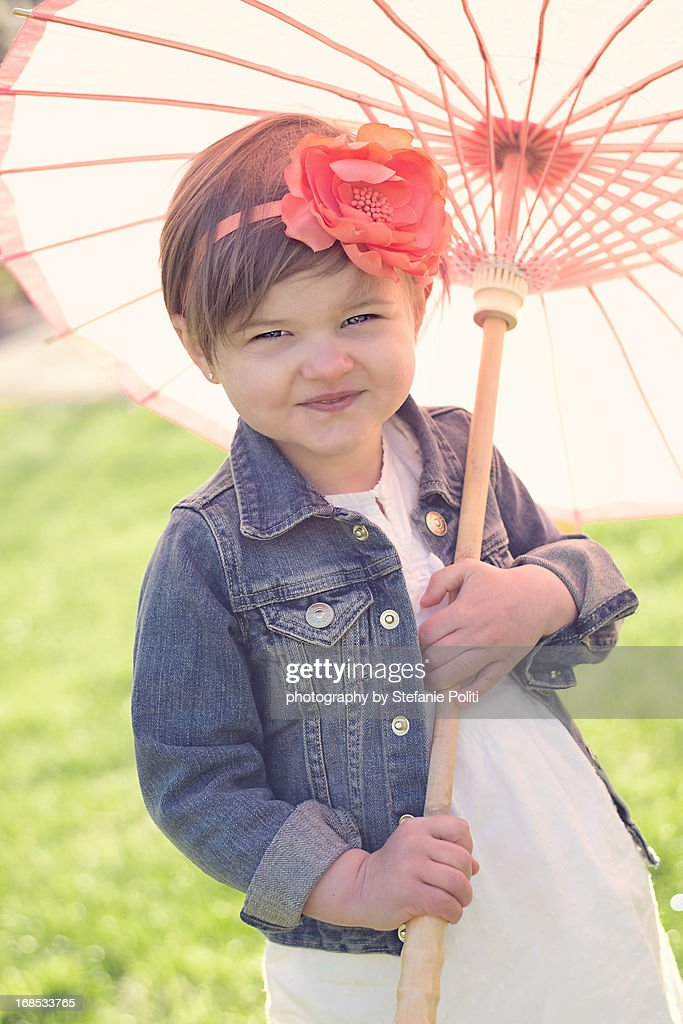 girl & parasol : Stock Photo
