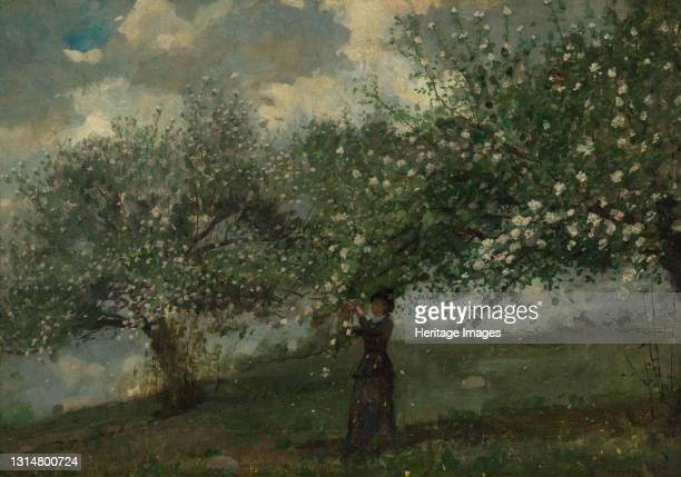 Girl Picking Apple Blossoms, 1879. Artist Winslow Homer.