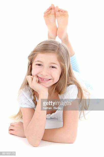 girl - little girls bare feet stock photos and pictures