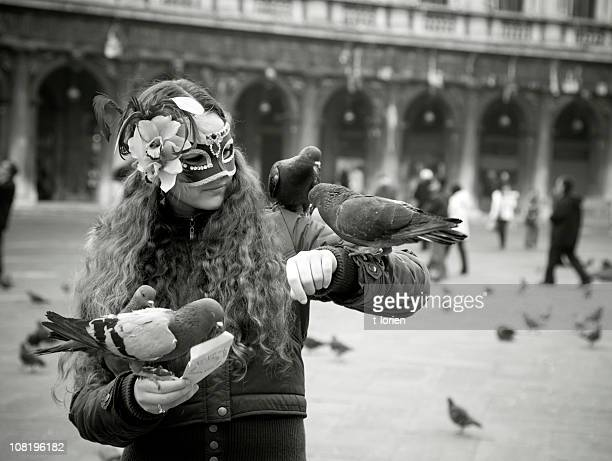 Girl & Pigeons.