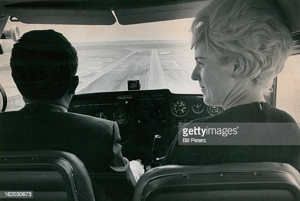 MAY 18 1970 MAY 27 1970 Girl Pilot Finds Success Emily Joyce Howell of Denver fell in love with airplanes at age 18 Now a pert 30 she is the newly...