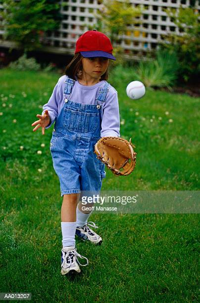 Girl Playing Catch