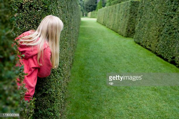 Girl Playing Hide and Seek