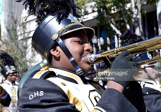 CONTENT] Girl playing the trombone during the parade of Martin Luther King in Orlando Florida