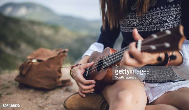 Girl playing ulelele