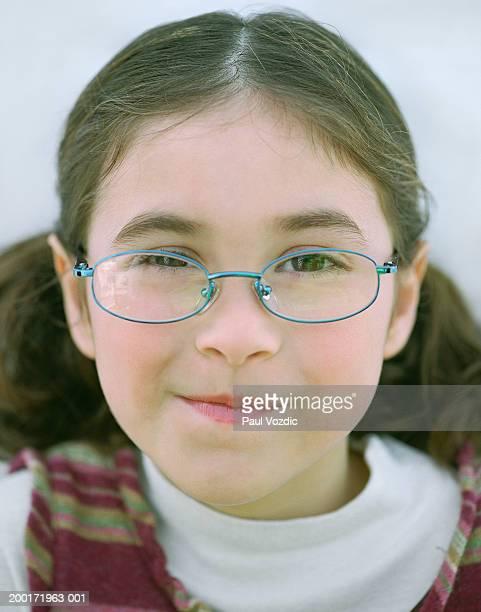 Girl (6-8) portrait, close-up
