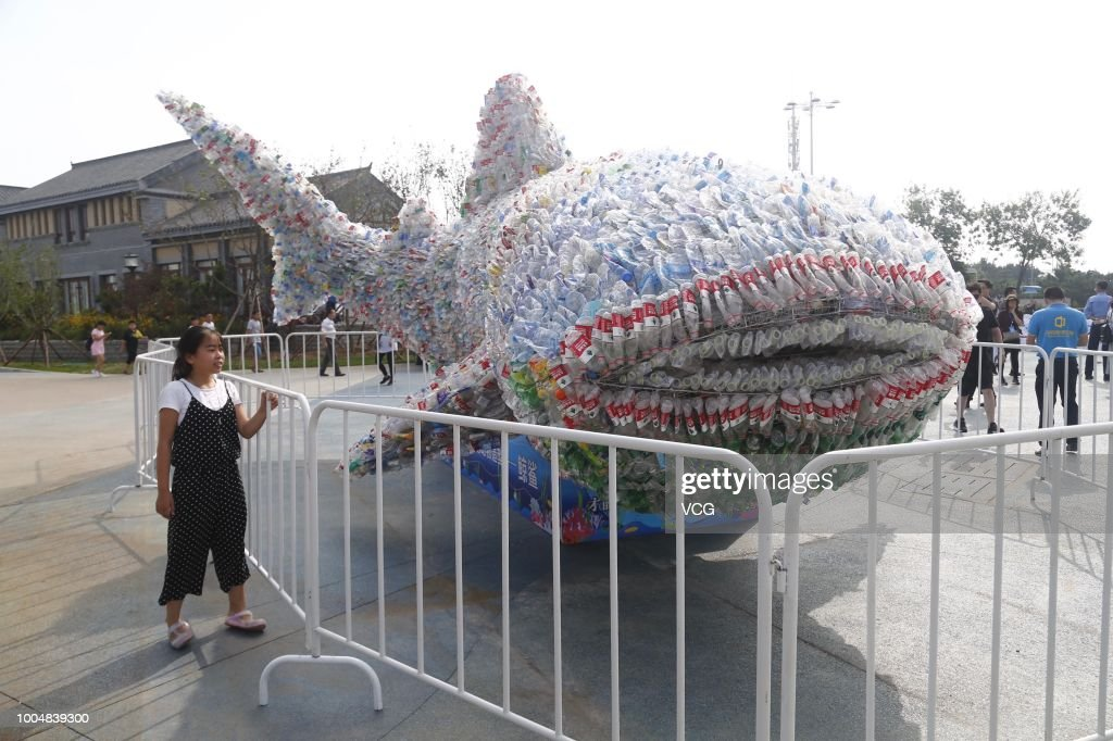 Plastic Whale Shows Ocean Pollution Problem