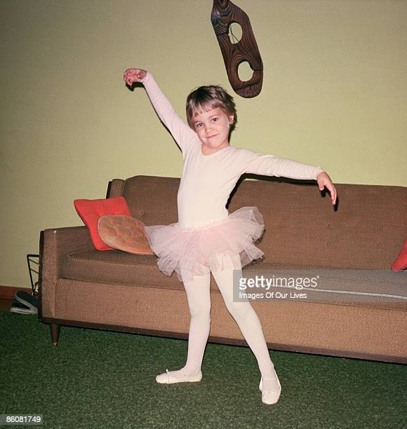 Girl posing in ballerina tutu