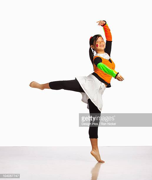 Girl Posing In Ballet Position