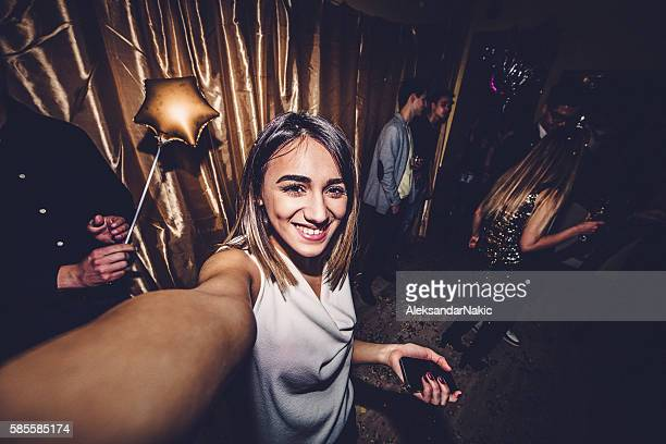girl posing on a dance floor - ladies' night stock pictures, royalty-free photos & images