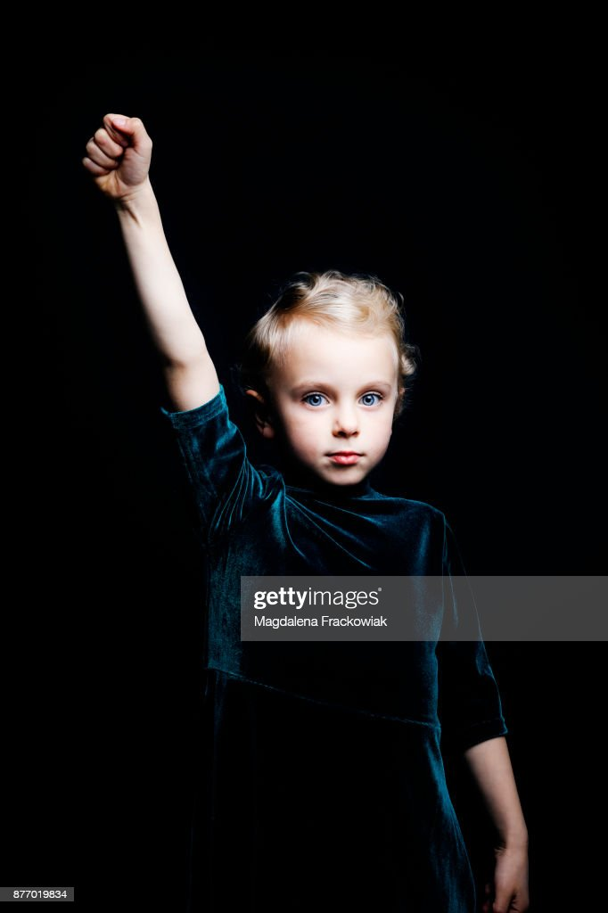 Girl power : Foto de stock