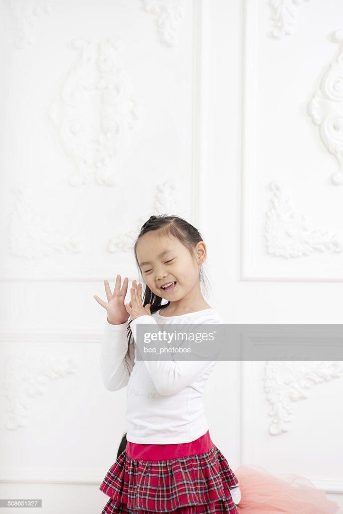 Girl practicing dance : Stock Photo