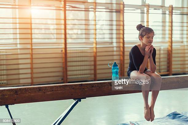 GIrl Practicing Gymnastics
