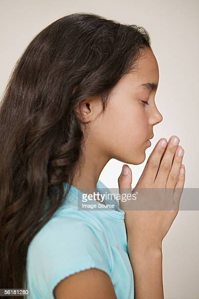 Girl Praying Profile Stock Photos And Pictures