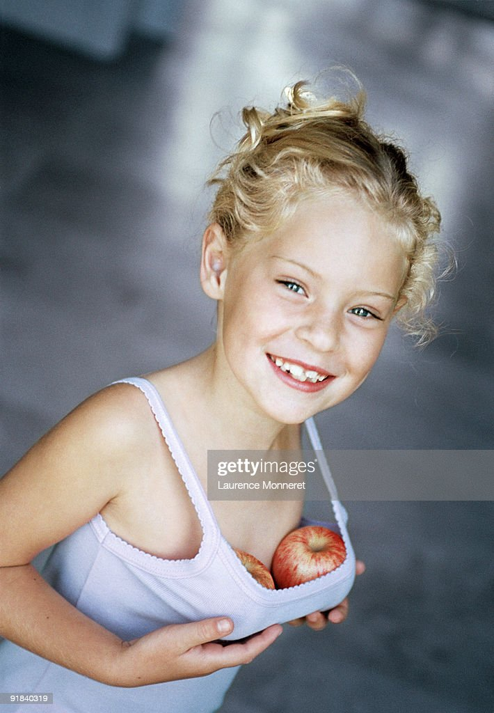 Girl Pretending To Have Breasts Stock Photo  Getty Images-7960