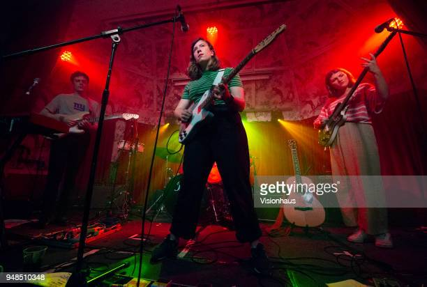 Girl Ray with lead singer Poppy Hankin perform at the Deaf Institute on April 17 2018 in Manchester England