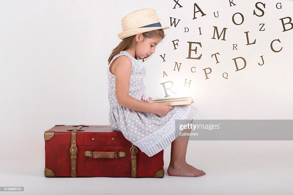 girl reading a book : Stock Photo