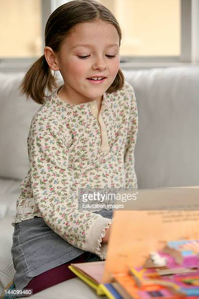 Girl Reading PopUp Book