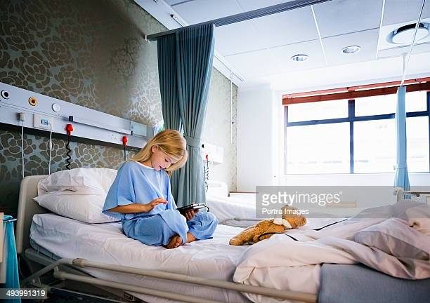 Girl recovering in a hospital