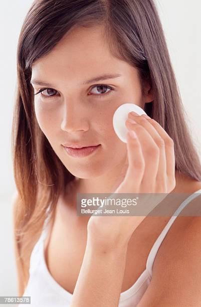 Girl removing make-up