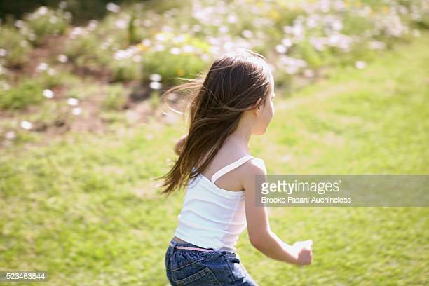 girl running - little girls bare bum stock pictures, royalty-free photos & images