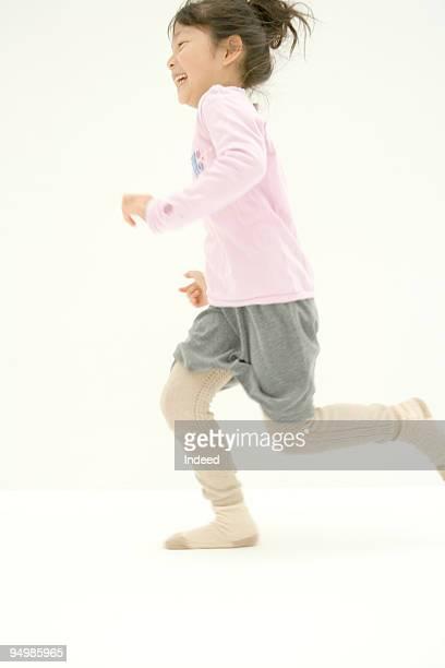 A girl running
