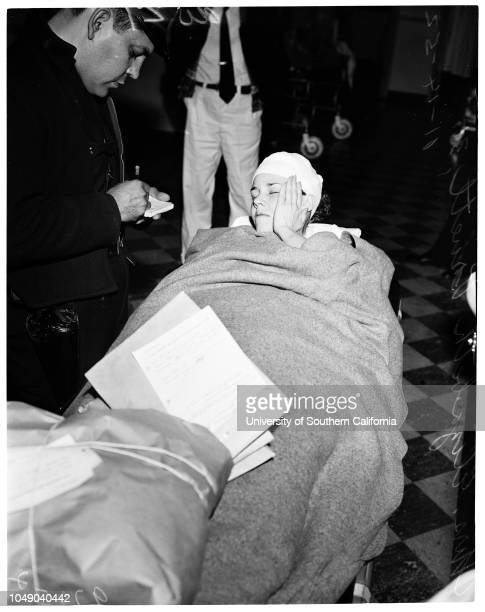 Girl says murderer assaulted her and held her prisoner 14 November 1952 Mrs Elizabeth Pruett 31 years Being treated at Georgia Street HospitalCaption...