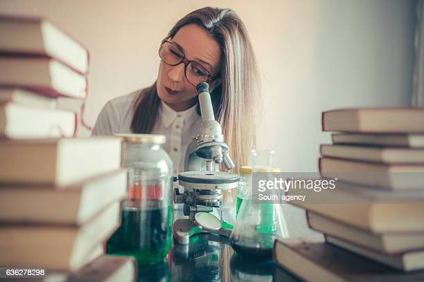 Girl scientist