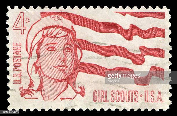 girl scouts (xxl) - postage stamp stock pictures, royalty-free photos & images
