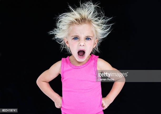 girl screaming with anger - tantrum stock photos and pictures