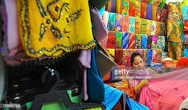 Girl seeling batik