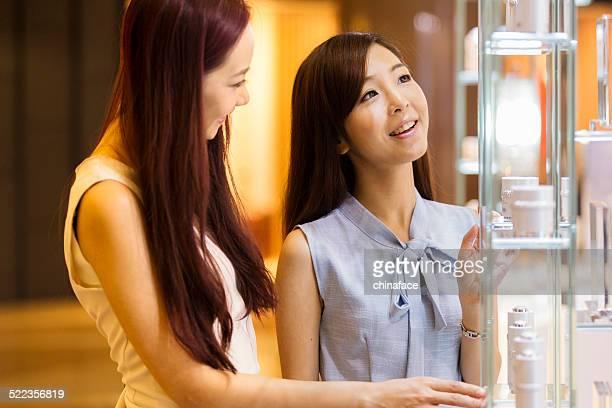 girl shopping at luxury mall in kowloon hong kong china