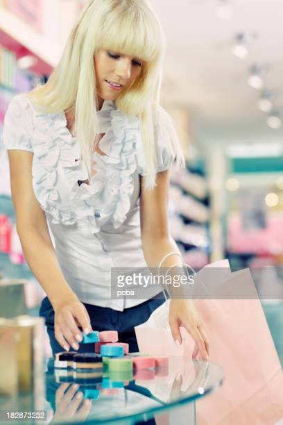 girl shopping  cosmetics