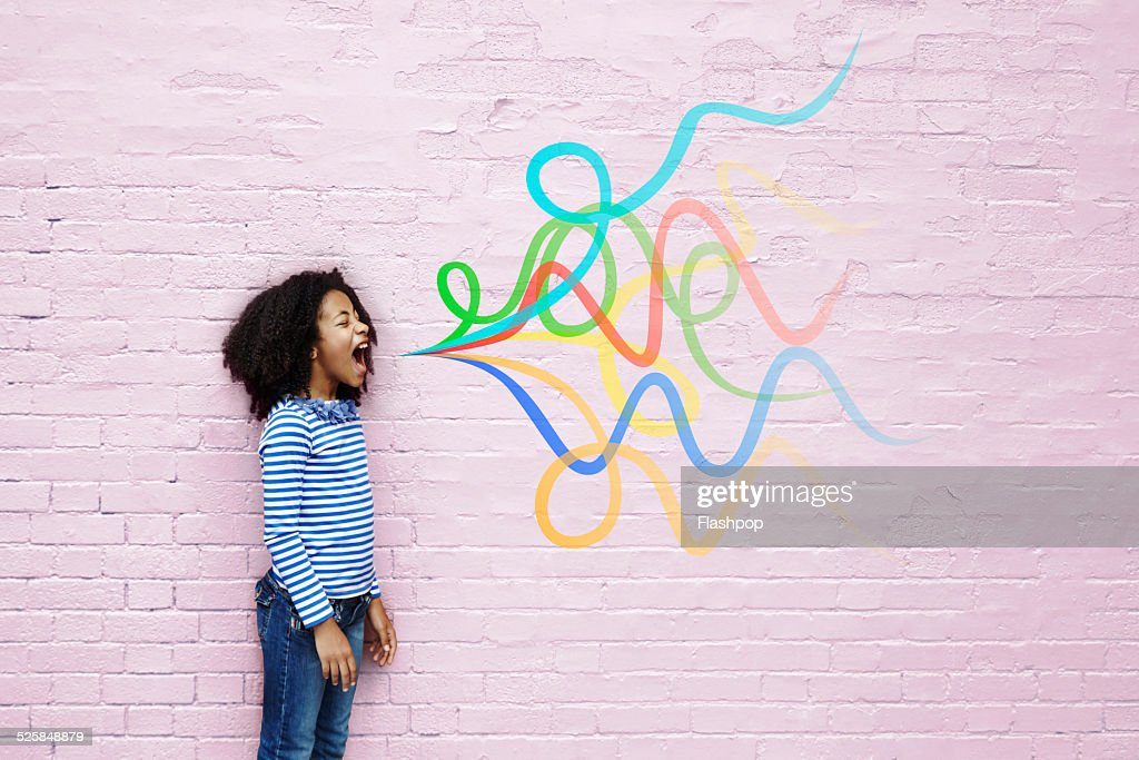 Girl shouting : Stock Photo