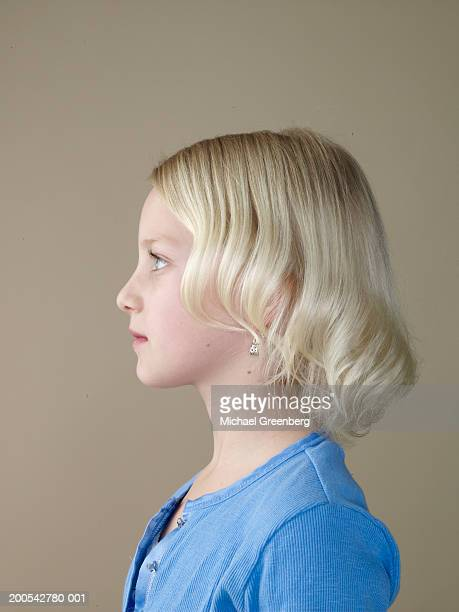 Girl (7-9), side view