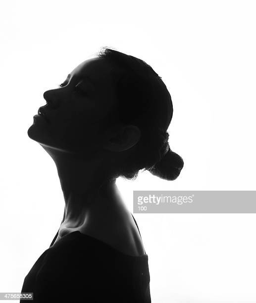 girl silhouette - shadow forms stock photos and pictures