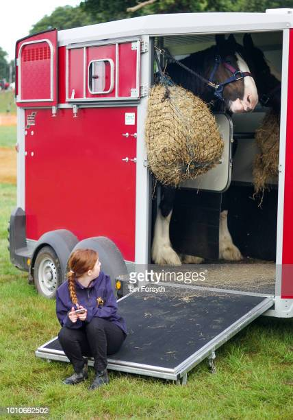 A girl sits with her horse during 152nd the Ryedale Country Show on July 31 2018 in Kirbymoorside England Held in Welburn Park near Kirbymoorside in...