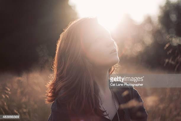 Girl Sitting in Sun
