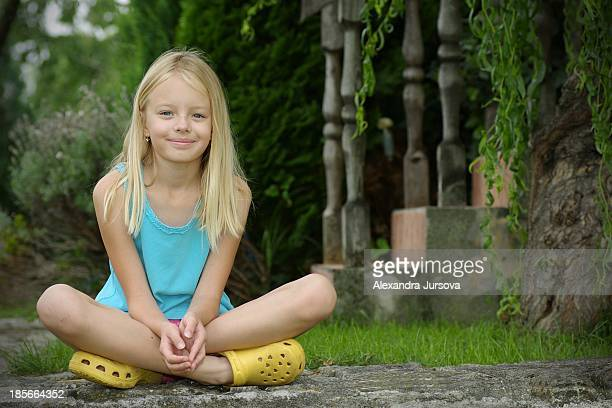 girl sitting on the path - eastern european descent stock pictures, royalty-free photos & images