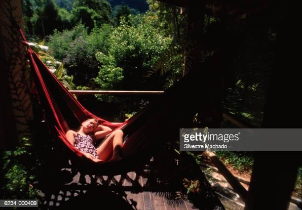Girl Sleeping in Hammock