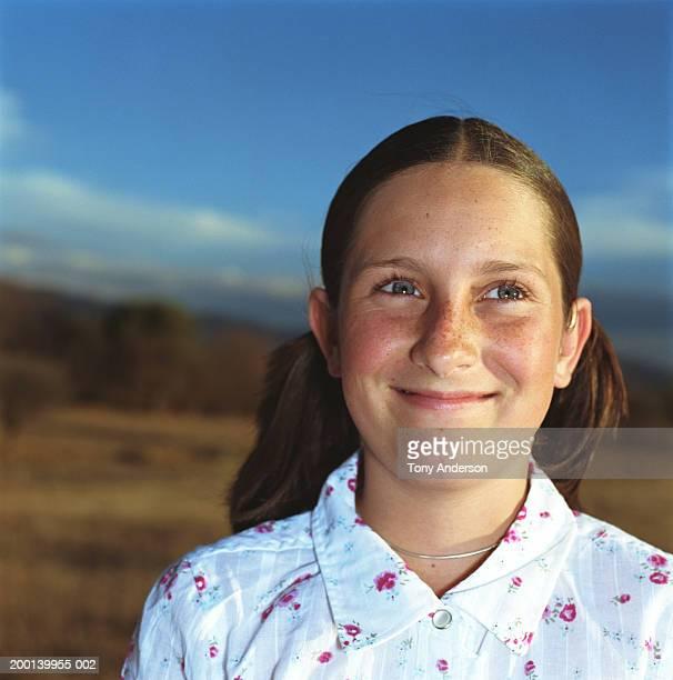 Girl(12-14), smiling, close-up