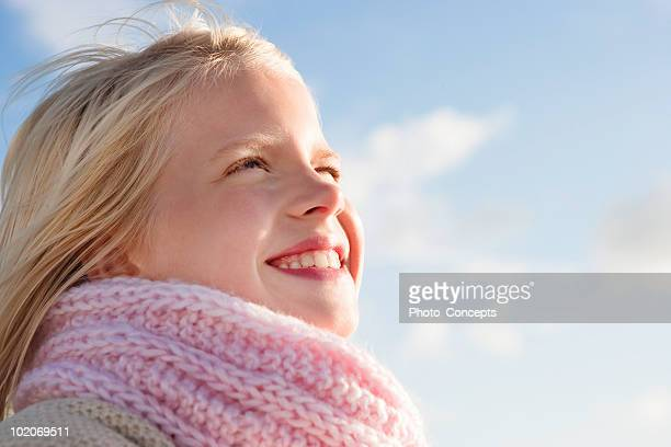 girl smiling - squinting stock photos and pictures