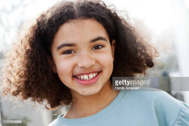 girl smiling - mixed race person stock pictures, royalty-free photos & images