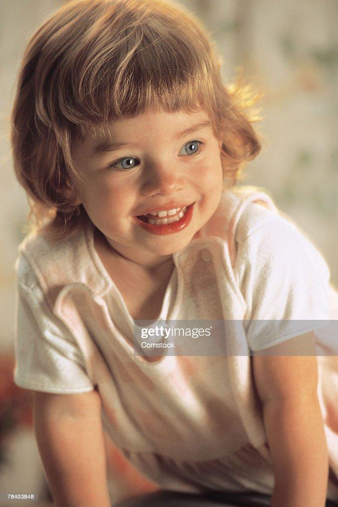 Girl smiling : Stockfoto